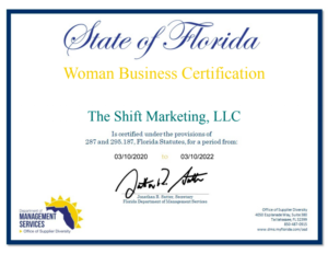 florida minority owned business certificate